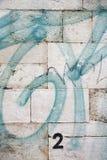 Graffiti sulla parete a Lisbona, Portogallo. Immagini Stock