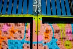 Graffiti sulla rampa del pattino Immagini Stock Libere da Diritti