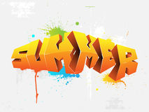 Graffiti summer Stock Photo