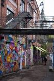 Graffiti sur la rue d'Oslo Photo libre de droits