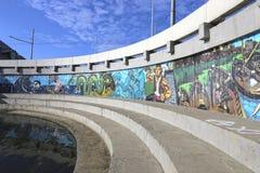 Graffiti sur le mur à Kazan Photo libre de droits