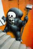 Graffiti sur le mur. Images libres de droits