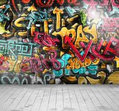 Graffiti sur le mur Photographie stock