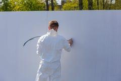 Graffiti sur le mur blanc Photographie stock libre de droits