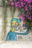Graffiti sur les rues de Tel Aviv Photos stock