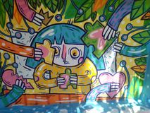 Graffiti sztuka obrazy stock