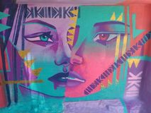 Graffiti sztuka obrazy royalty free