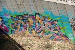 Graffiti sztuka przy Piwnym Sheba, Izrael Obrazy Royalty Free
