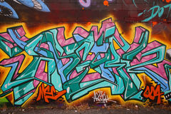 Graffiti sztuka przy Wschodnim Williamsburg w Brooklyn Obrazy Royalty Free