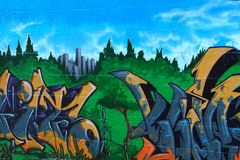 graffiti sztuki. Obraz Royalty Free
