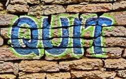 Graffiti sztuki projekt skwitowany Zdjęcie Royalty Free