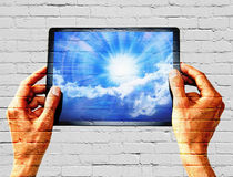 Graffiti Tablet Sky Technology Royalty Free Stock Photos