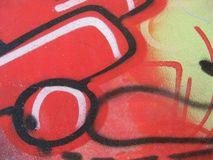Graffiti and tags. On a wall Stock Image