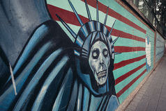 Graffiti a Teheran Immagine Stock Libera da Diritti