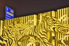 Graffiti teilen genannt den Bärkäfig in Zonen auf Lizenzfreies Stockfoto