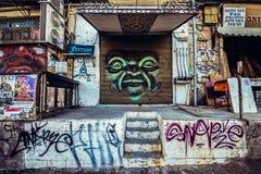 Graffiti a Tel Aviv Immagini Stock Libere da Diritti