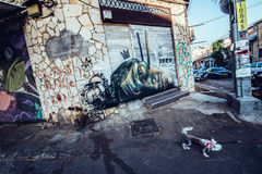 Graffiti in Tel Aviv Royalty Free Stock Photo
