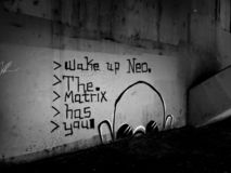 Underground Graffiti in Black and White royalty free stock photos