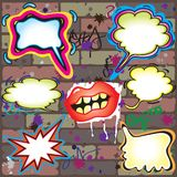 Graffiti Thought Bubbles Royalty Free Stock Image
