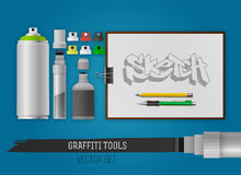 Graffiti tools Stock Image