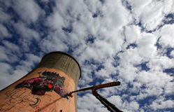 Graffiti on a tower Royalty Free Stock Photography