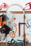 Graffiti on trailer door Stock Image