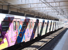 Graffiti train Stock Images