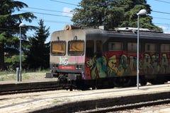 Graffiti train Stock Images