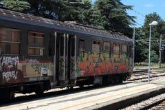 Graffiti train Royalty Free Stock Image