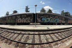 Graffiti train Royalty Free Stock Photos