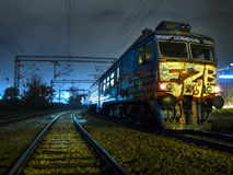 Graffiti train in Belgrade Royalty Free Stock Photos