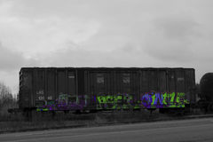 Graffiti train Royalty Free Stock Image
