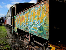 Graffiti train Stock Photo
