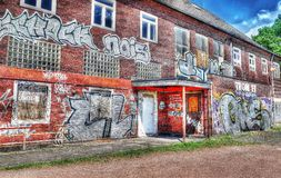 Graffiti Train Station Duisburg Trompet (Germany) Royalty Free Stock Images