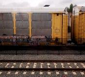 Train next roor stock images