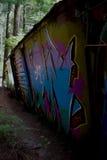 Graffiti Train Wreck in Whistler Royalty Free Stock Photo