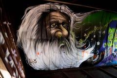 Graffiti Train Wreck in Whistler Stock Photo
