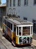 Graffiti tram Portugal Royalty Free Stock Images