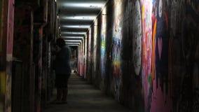 Graffiti tunel światło obraz royalty free