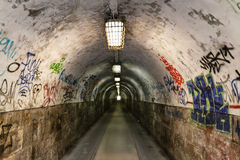 Graffiti tunnel Royalty Free Stock Photo