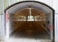 A graffiti tunnel in an city Stock Photography