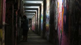 Graffiti Tunnel of Light royalty free stock image