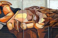 Graffiti twarz Zdjęcie Royalty Free