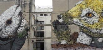 Graffiti ulica w Bogota odnosić sie lewicowa przyjęcia prezydent co do wyzwolenie walki ameryka łacińska obraz stock