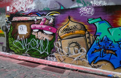Graffiti ulica w Melbourne, Australia Obrazy Stock