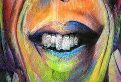 Graffiti - Uliczna sztuka Zdjęcia Stock