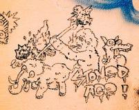 Graffiti - Uliczna sztuka Zdjęcia Royalty Free