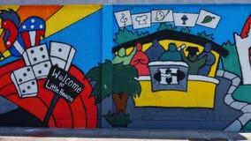 Graffiti uliczna sztuka reprezentuje Trochę Hawańskiego w Wynwood sąsiedztwie Miami zdjęcia stock
