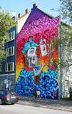 Graffiti uliczna sztuka w Hannover Niemcy Zdjęcia Stock