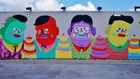 Graffiti uliczna sztuka w Wynwood sąsiedztwie Miami fotografia stock